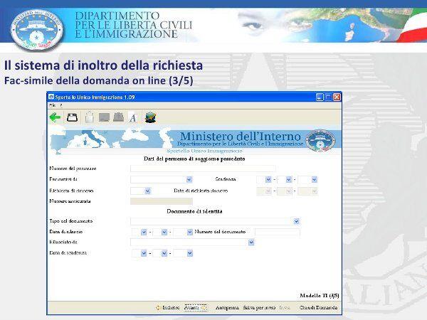 Domanda cittadinanza italiana for Controllo permesso soggiorno