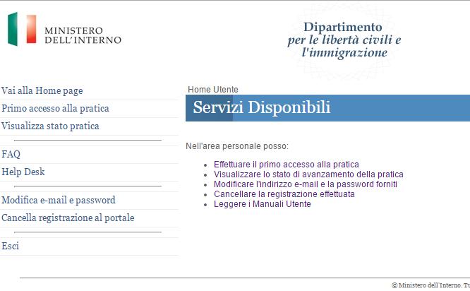 Richiesta di cittadinanza richiesta di cittadinanza for Ministero dell interno immigrazione permesso di soggiorno