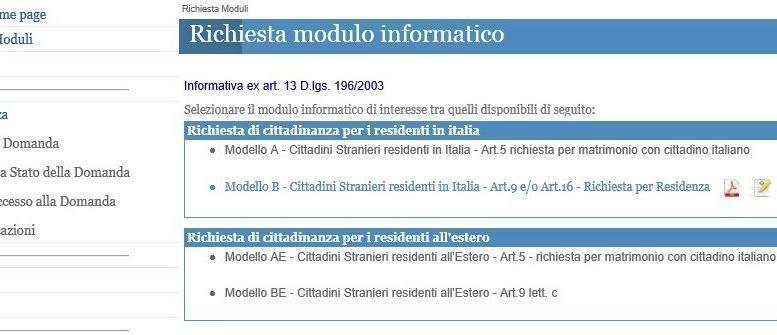 Domanda di cittadinanza online cittadinanza italiana for Ministero dell interno