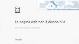pagina web non disponibile