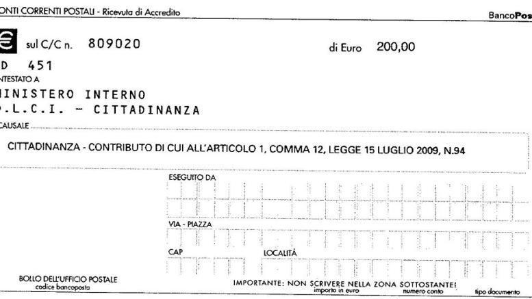contributo cittadinanza