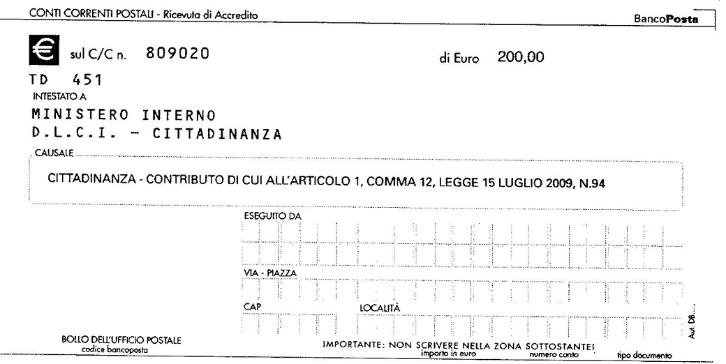 Bollettino Cittadinanza Italiana Cittadinanza Italiana