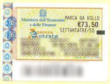 marca da bollo 73,50 euro