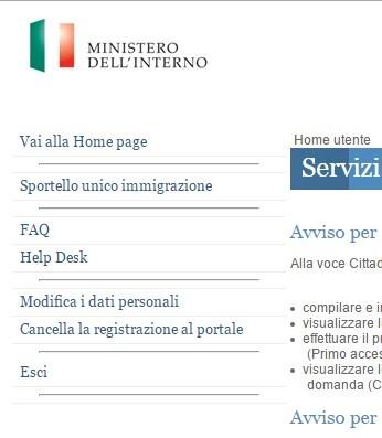domanda cittadinanza online