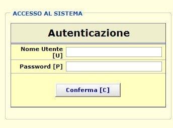autenticazione accesso al sistema