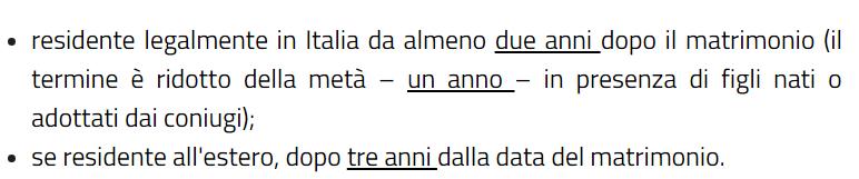 Cittadinanza italiana per matrimonio cittadinanza italiana for Permesso di soggiorno dopo matrimonio