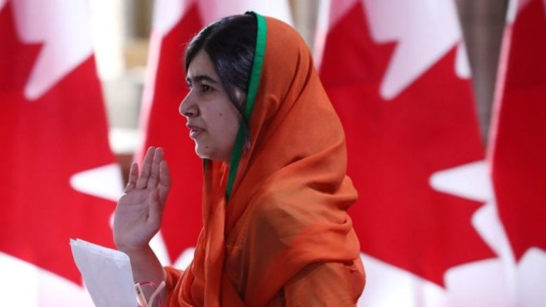 Malala Yousafzai cittadinanza canadese