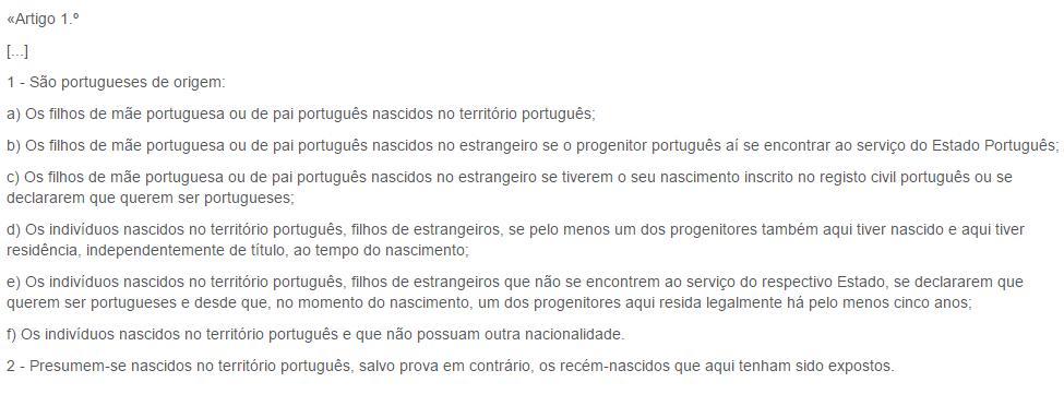 nazionalità cittadinanza portoghese