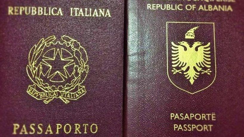 passaporto italiano e albanese
