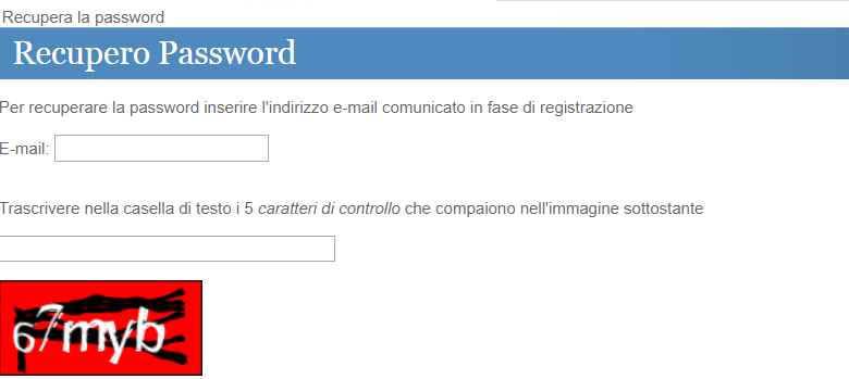 recupera la password cittadinanza