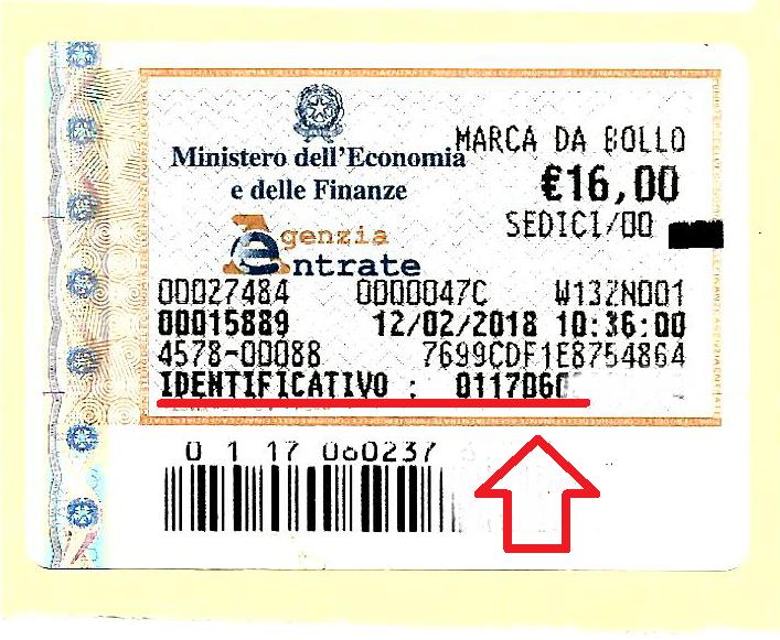 marca da bollo 16 euro per cittadinanza