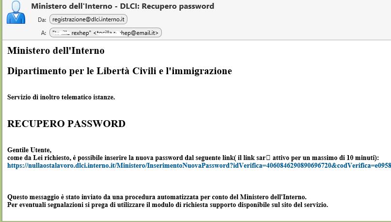 recupero password cittadinanza
