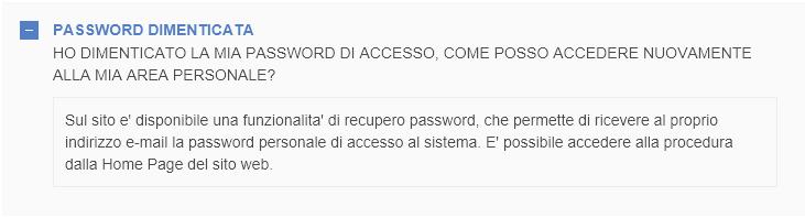 password dimenticata