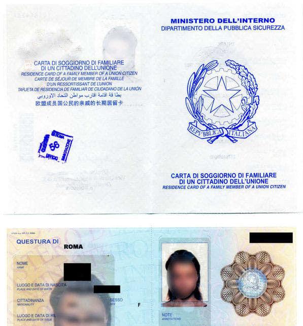 Con la carta di soggiorno o il permesso di soggiorno illimitato UE ...