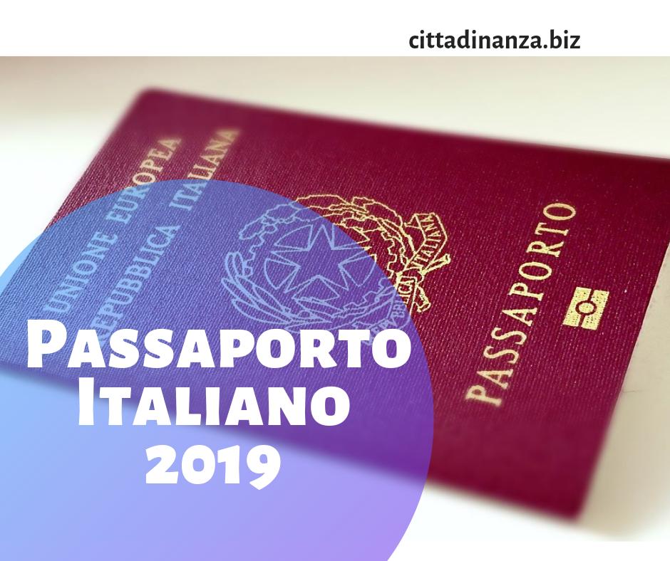 Passaporto Italiano 2021 Cittadinanza Italiana