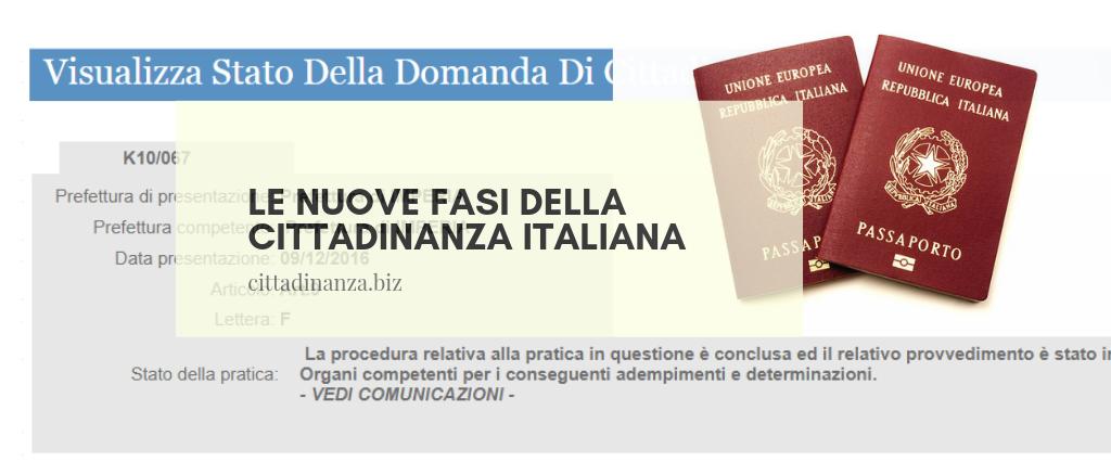 nuovi fasi della cittadinanza italiana