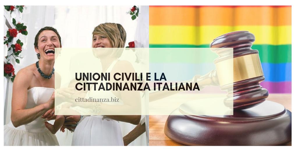 unioni civili, convivenza e la cittadinanza italiana